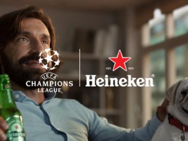 Heineken lança campanha com Pirlo e mostra que todo jogo da UEFA Champions    proporciona momentos imperdíveis